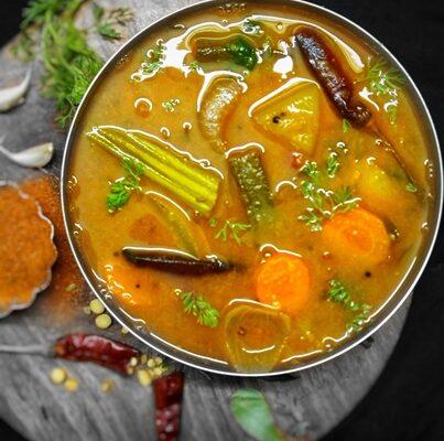 <b>Vegetable Sambar | Unique recipe for best taste</b>