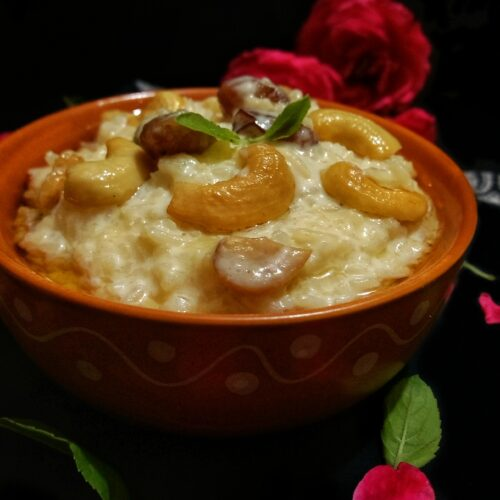 rice pudding with jaggery